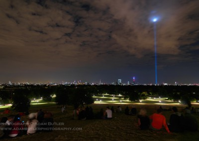 Primrose Hill and Light Beam