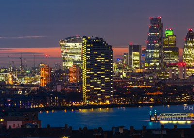 City from Greenwich