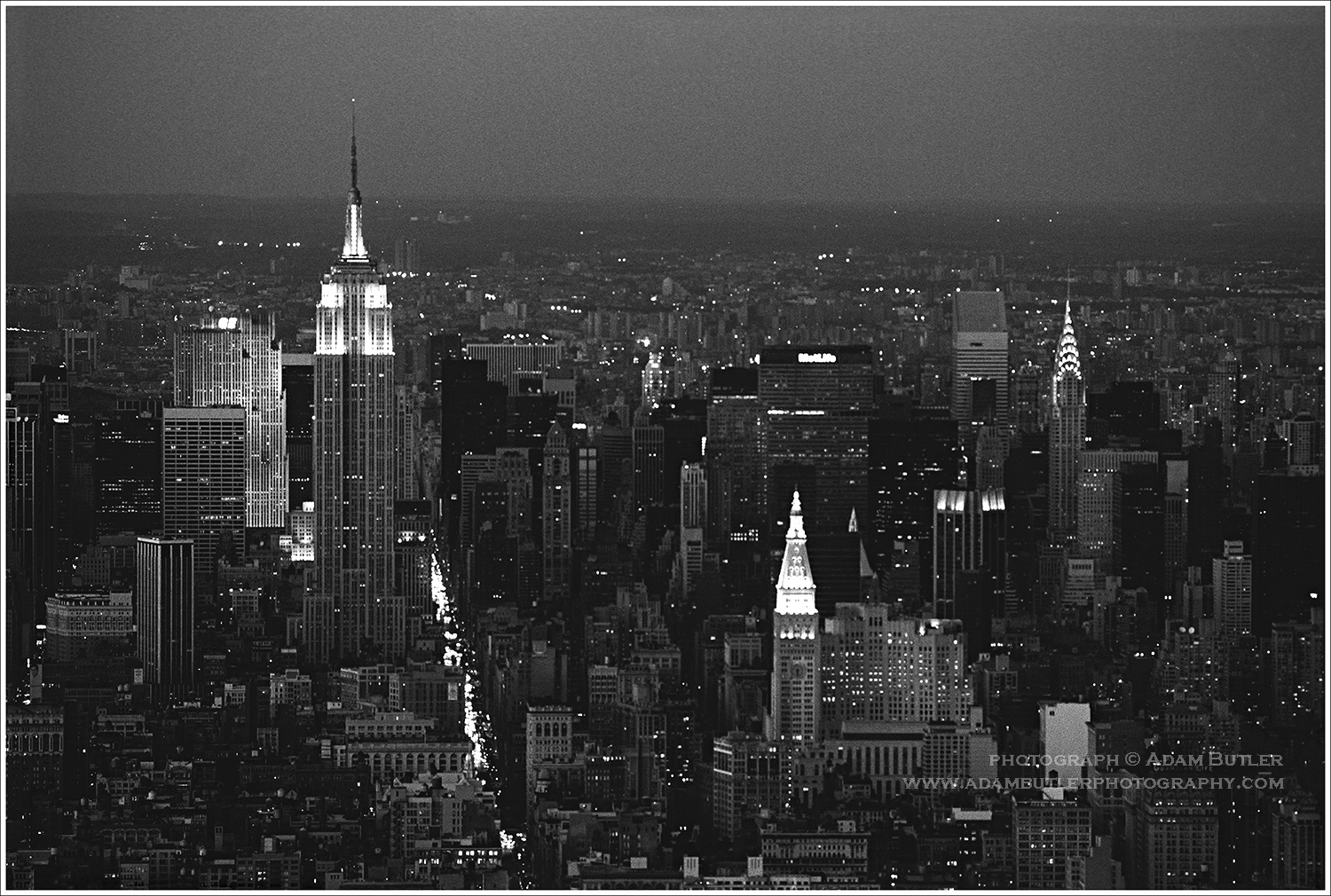 Night Cityscapes Black And White