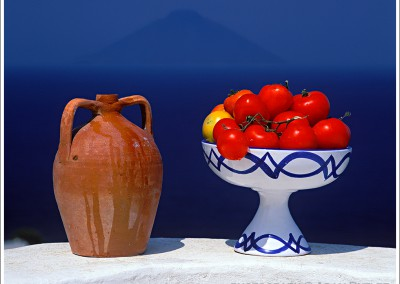 Tomatoes, Amphora and Stromboli