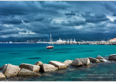 Boat beneath Stormy Clouds