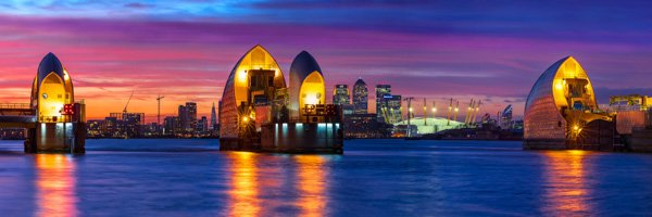 Thames Barrier and O2 Arena