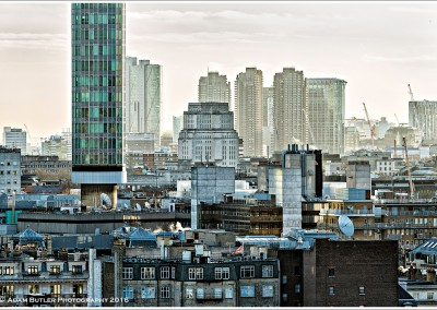 Marylebone Rooftops, the BT Tower, with Senate House and the Barbican beyond