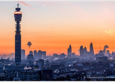 Dawn over Marylebone with BT Tower