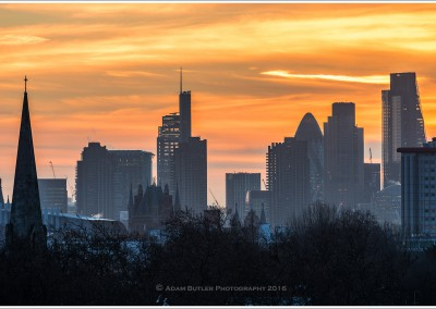 The City from Primrose Hill at Dawn