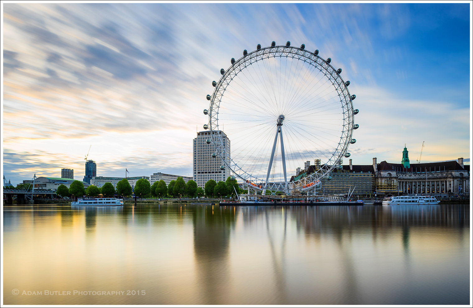The London Eye and the South Bank at Dawn