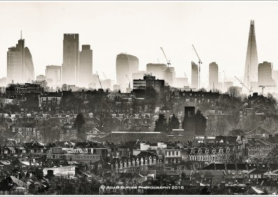 The City over Haringey Rooftops