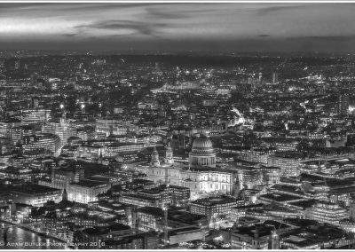 Aerial View over St Paul's and London, Night