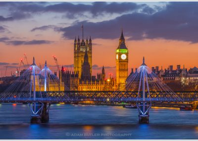 Hungerford Bridge and Houses of Parliament