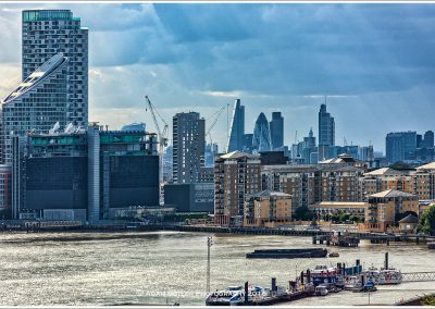 Canary Wharf with The City beyond