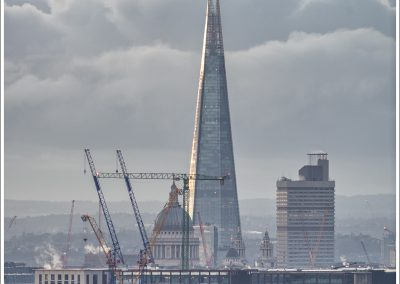The Shard and St Paul's, Dawn