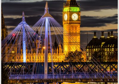 Golden Jubilee Bridge and Houses of Parliament