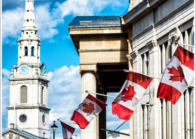 Canada House and St Martin in the Fields