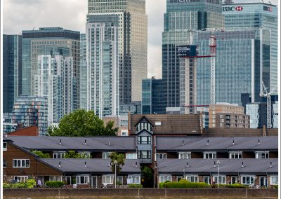 Red Barge by Canary Wharf