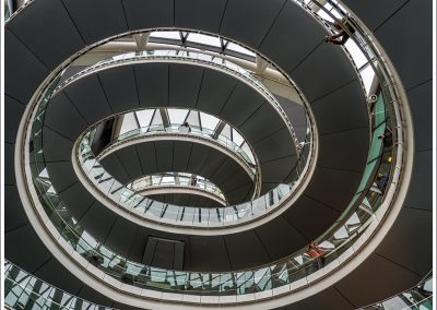 Spiral staircase in London Town Hall