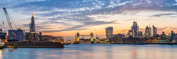 Panorama with Tower Bridge at Dusk