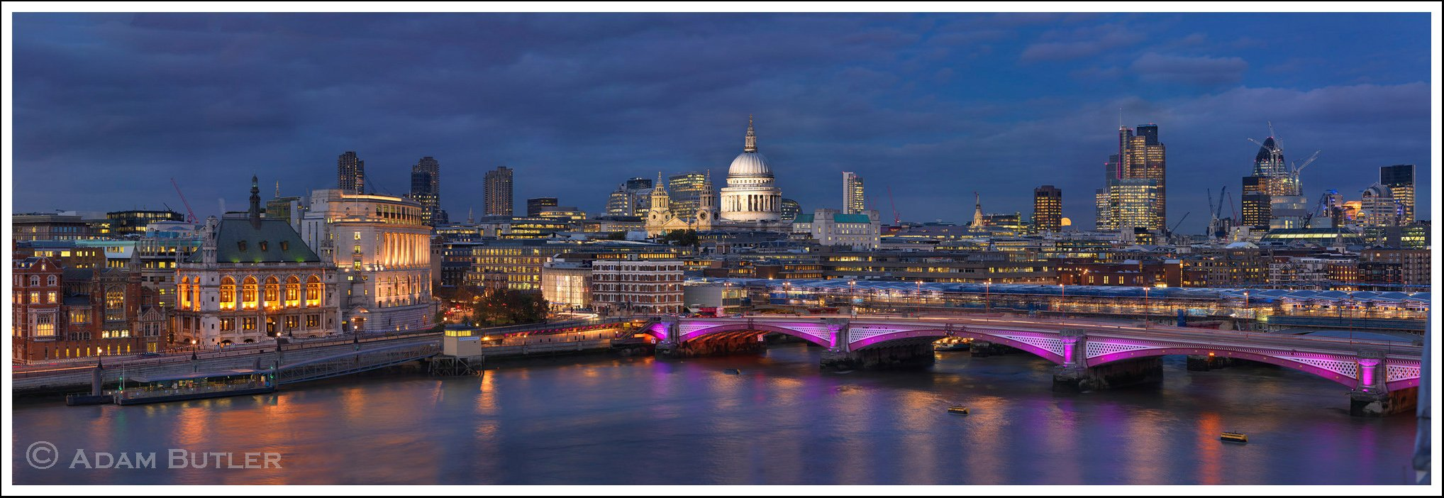 Blackfriars Bridge, St Paul's and The City of London