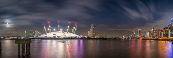Moonrise at the O2 Arena