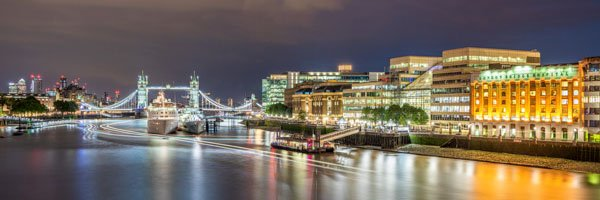 Light Trails on the River Thames